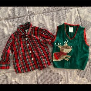 Other - Christmas Reindeer Sweater & Shirt